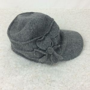 Grey Betmar hat with flower